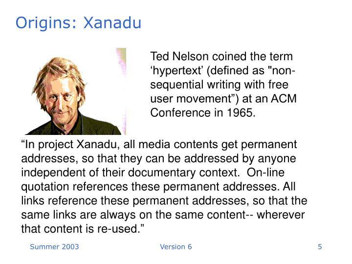 Origins: Xanadu