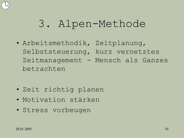 3. Alpen-Methode