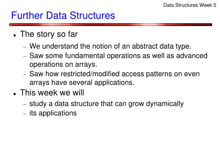Data Structures Week 5