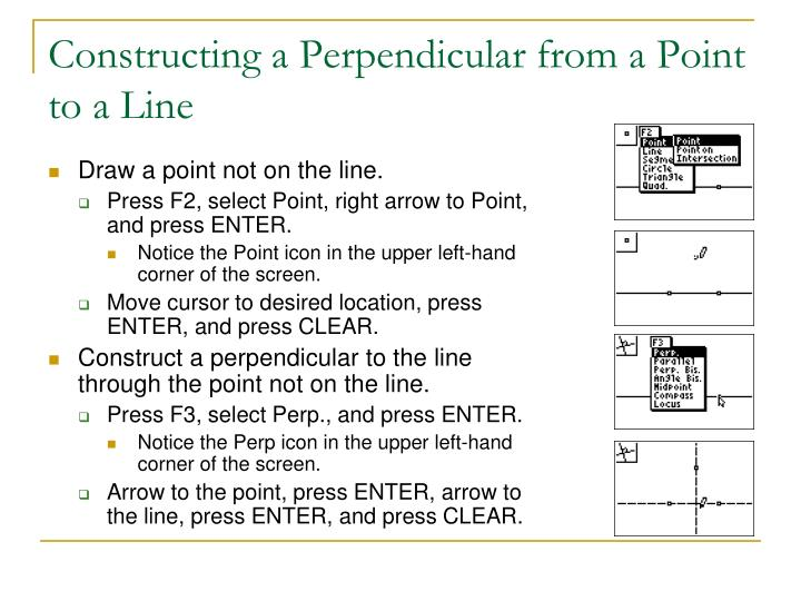 Constructing a Perpendicular from a Point to a Line