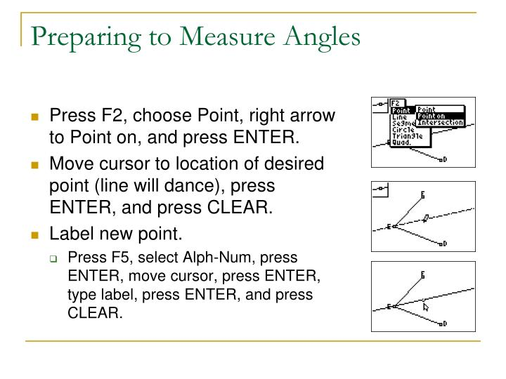 Preparing to Measure Angles