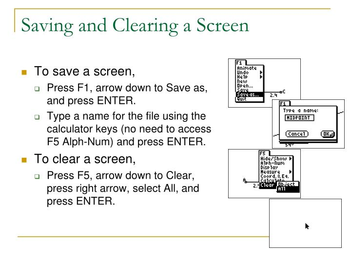 Saving and Clearing a Screen