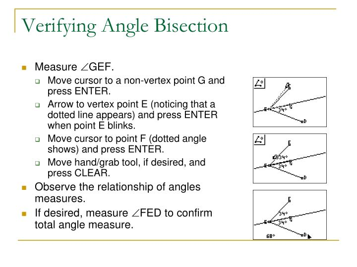 Verifying Angle Bisection