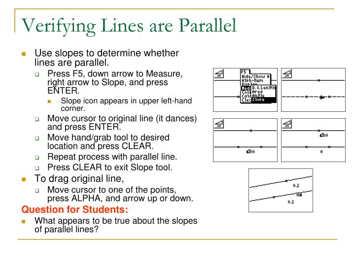 Verifying Lines are Parallel