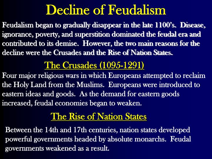 decline of feudalism in europe pdf