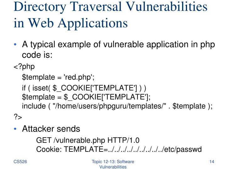 Directory Traversal Vulnerabilities in Web Applications