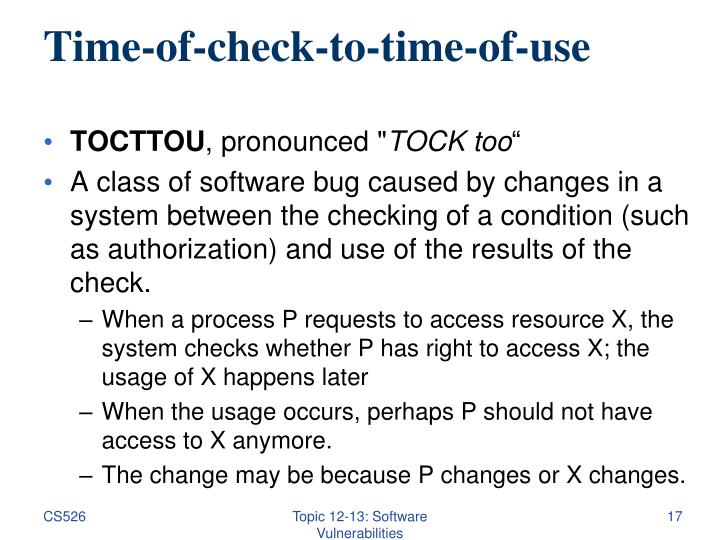 Time-of-check-to-time-of-use