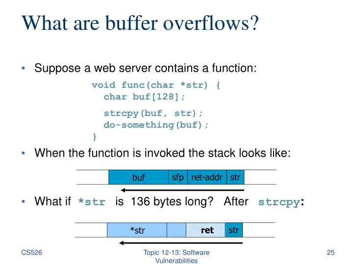 What are buffer overflows?