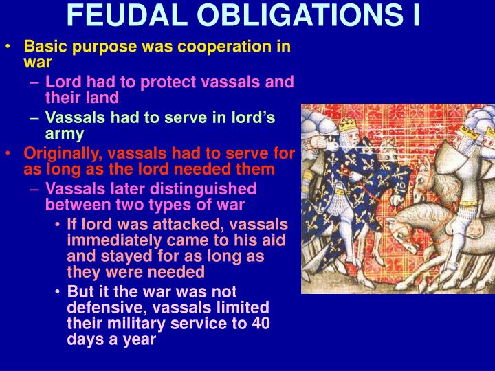 FEUDAL OBLIGATIONS I