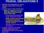 feudal obligations ii