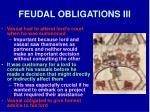 feudal obligations iii
