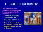 feudal obligations iv