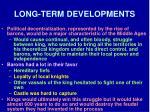 long term developments