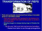 transformation of fiefs