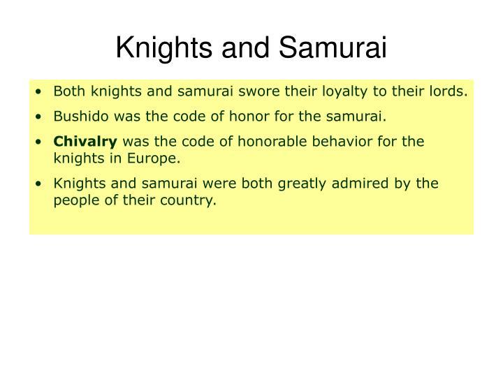 Knights and Samurai