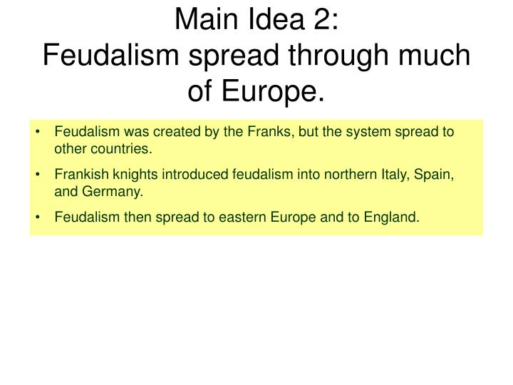 Main Idea 2:
