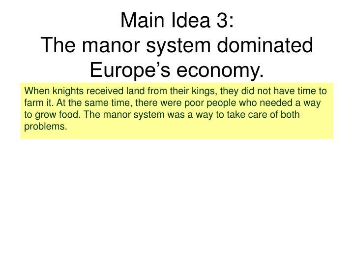 Main Idea 3: