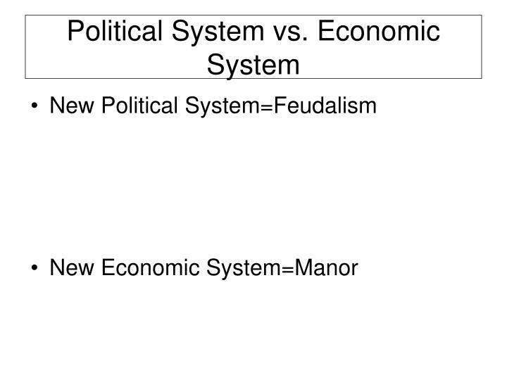 Political System vs. Economic System