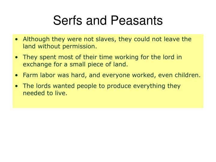 Serfs and Peasants