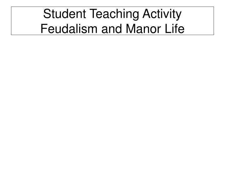 Student Teaching Activity