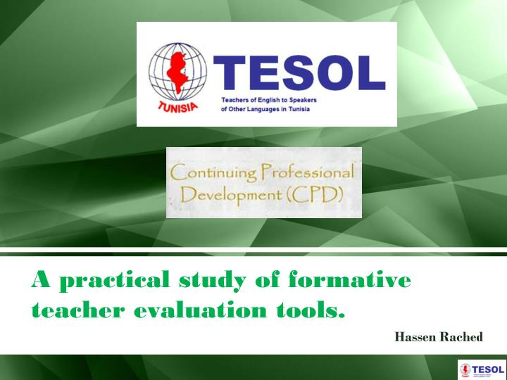 A practical study of formative teacher evaluation tools