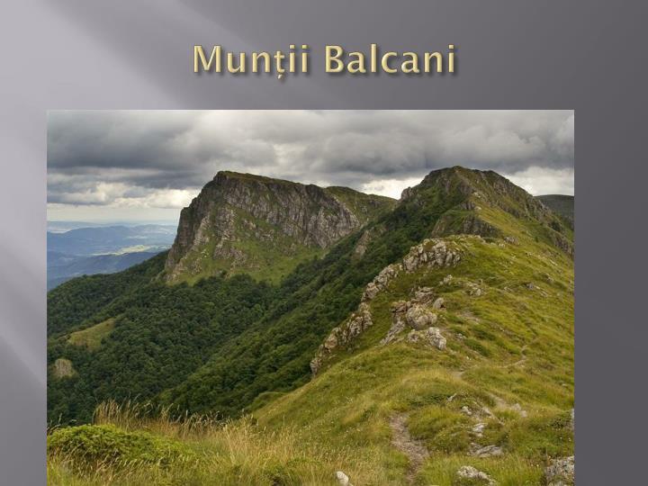 Munții Balcani