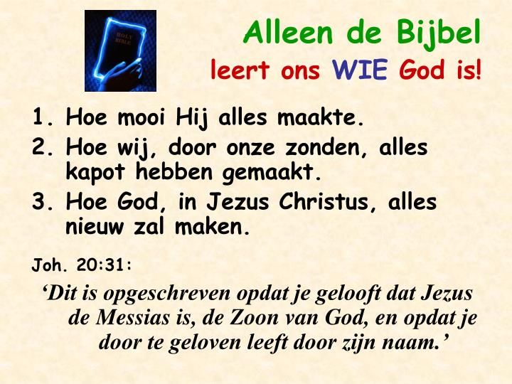 Alleen de Bijbel
