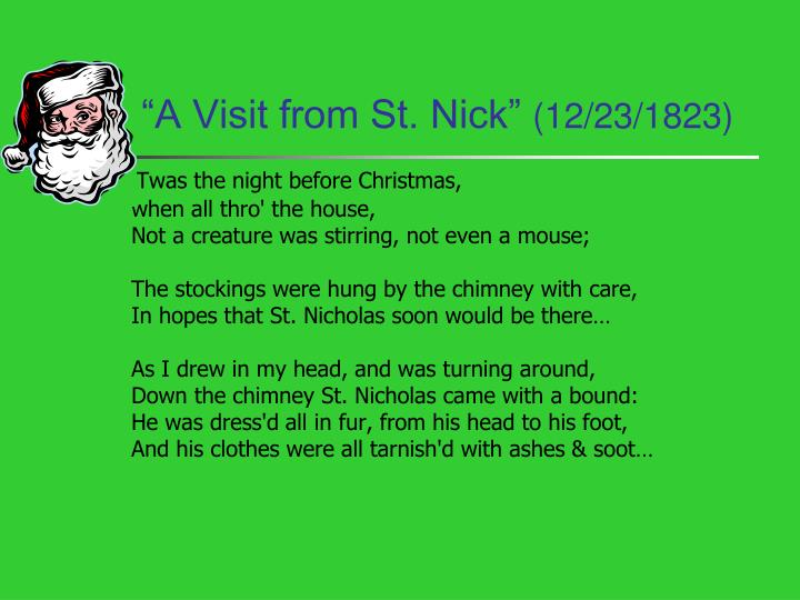 """A Visit from St. Nick"""