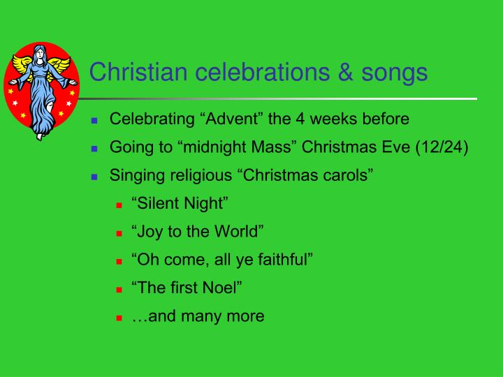 Christian celebrations & songs