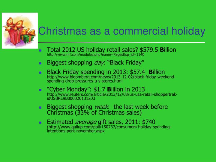Christmas as a commercial holiday