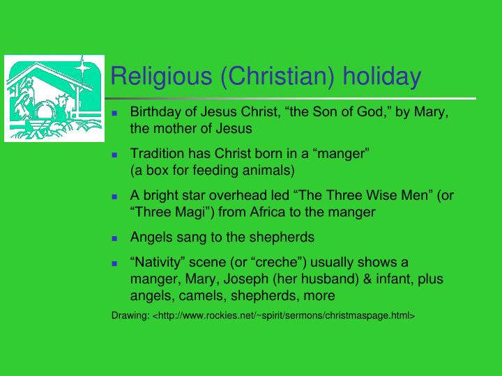 Religious (Christian) holiday