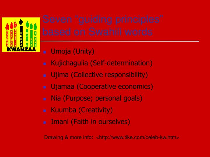 """Seven """"guiding principles"""""""