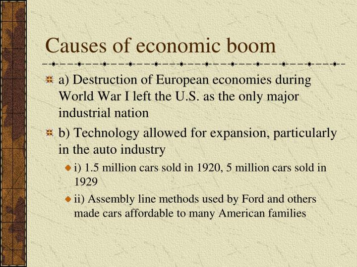 Causes of economic boom