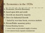 ii economics in the 1920s