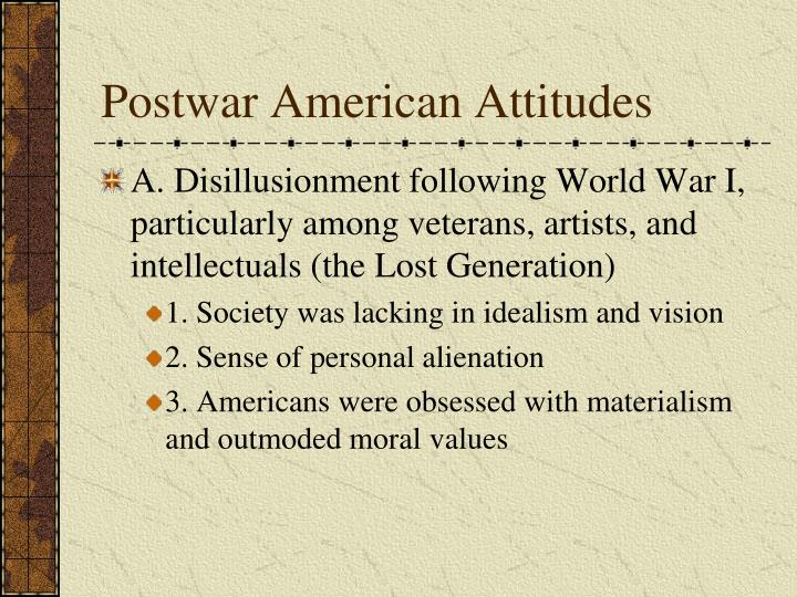 Postwar American Attitudes