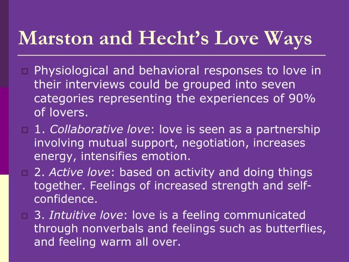 Marston and Hecht's Love Ways