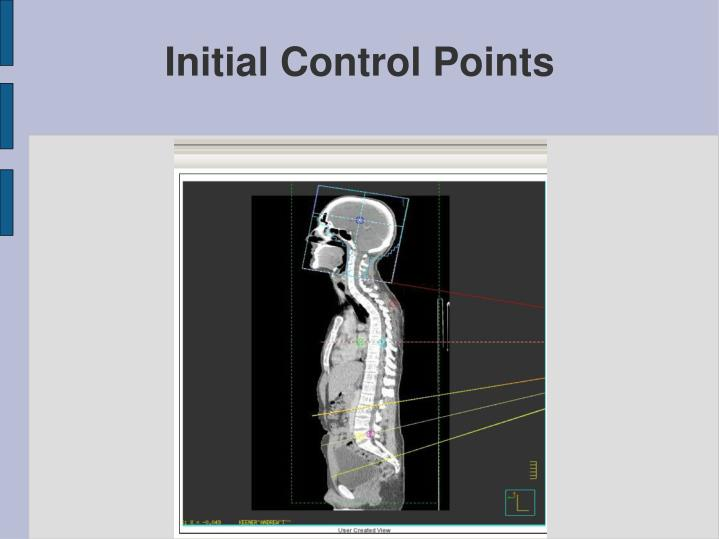Initial Control Points