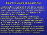 bipartite graphs and matchings1