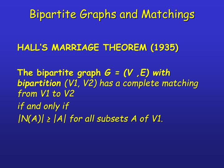 Bipartite Graphs and