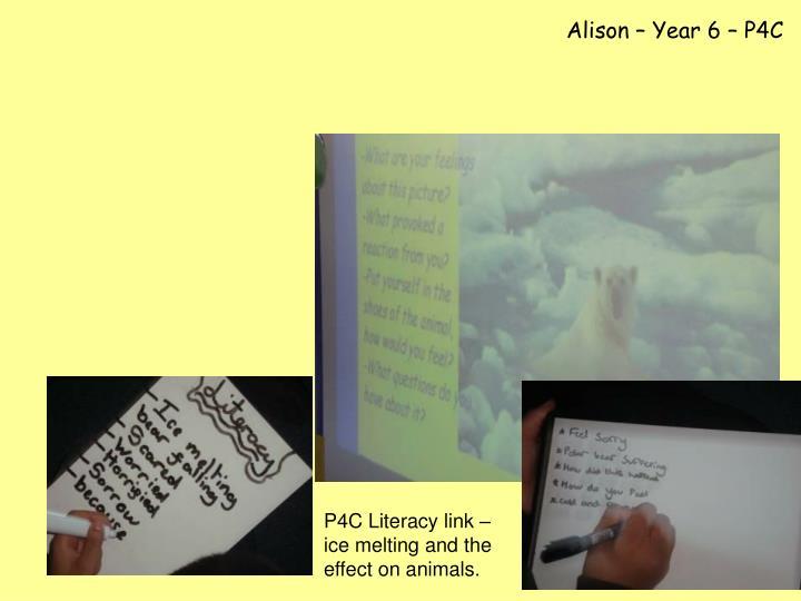 Alison – Year 6 – P4C