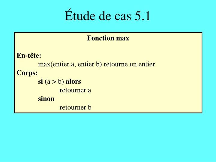 Étude de cas 5.1