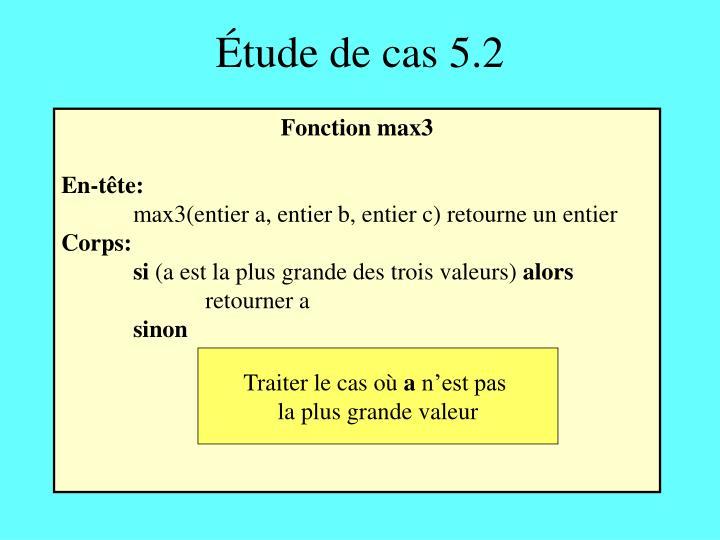 Étude de cas 5.2