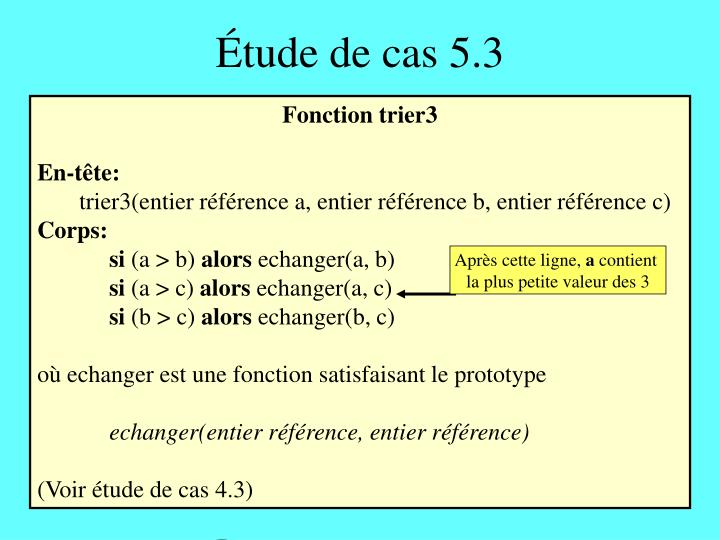 Étude de cas 5.3