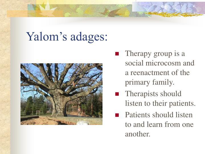 Yalom's adages:
