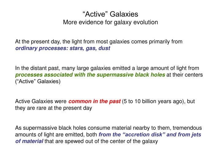 """Active"" Galaxies"