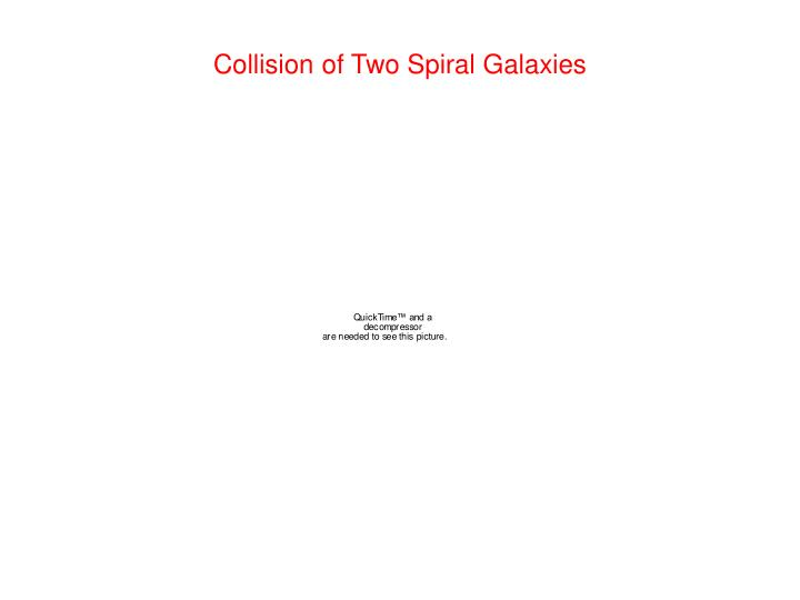 Collision of Two Spiral Galaxies