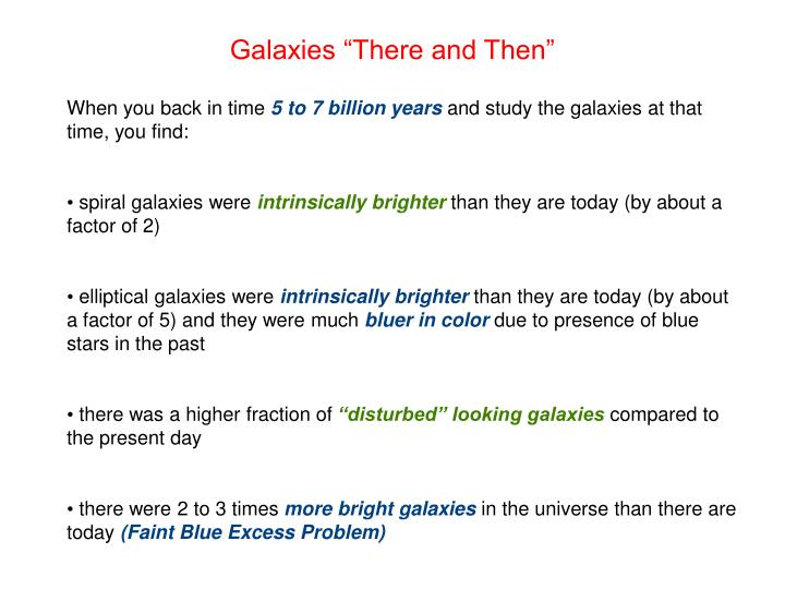 "Galaxies ""There and Then"""