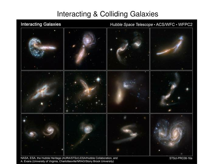 Interacting & Colliding Galaxies