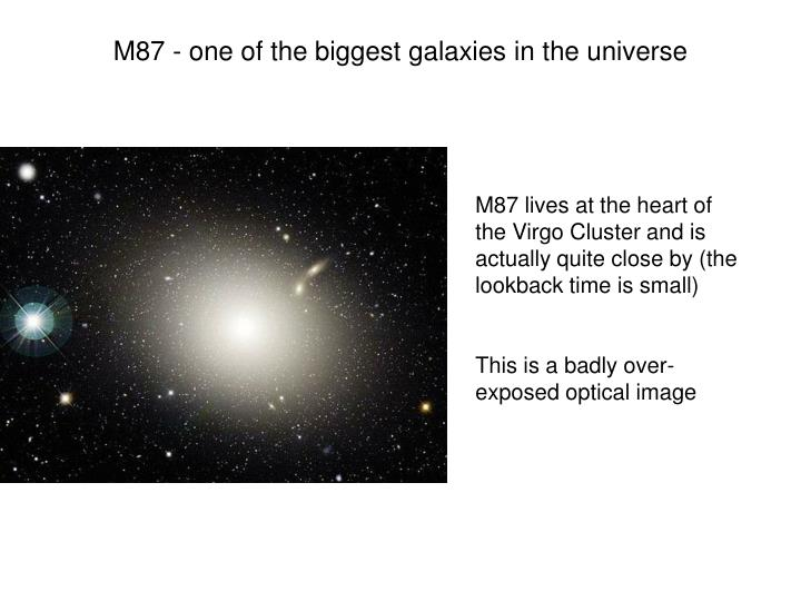 M87 - one of the biggest galaxies in the universe