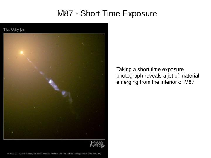 M87 - Short Time Exposure